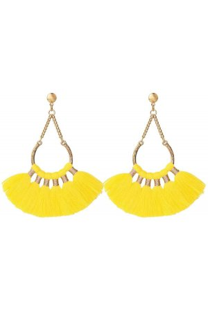 Boho Oorbellen Yellow