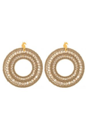 GOLD KNITTED HOOPS