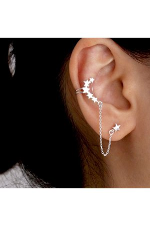 Star earcuff chain