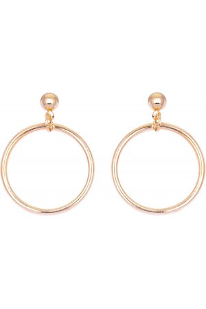 Stud circle earrings gold
