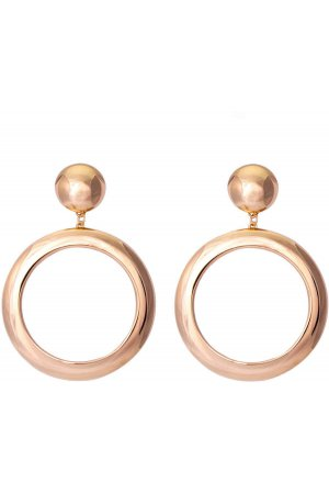 Stud hoop earrings gold