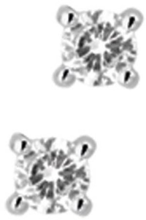 The Jewelry Collection Oorknoppen Diamant 0.20 Ct. - Witgoud