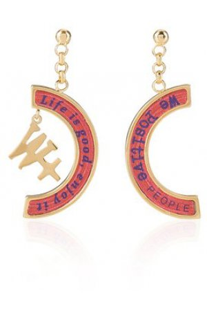 We Positive™ Earrings Red ER013